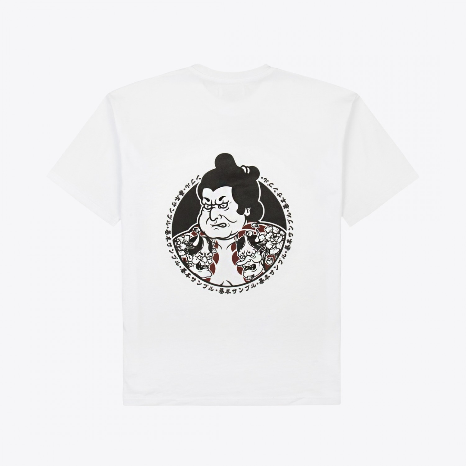 "Футболка Basic Sample - Tee White ""Sumo Player"""