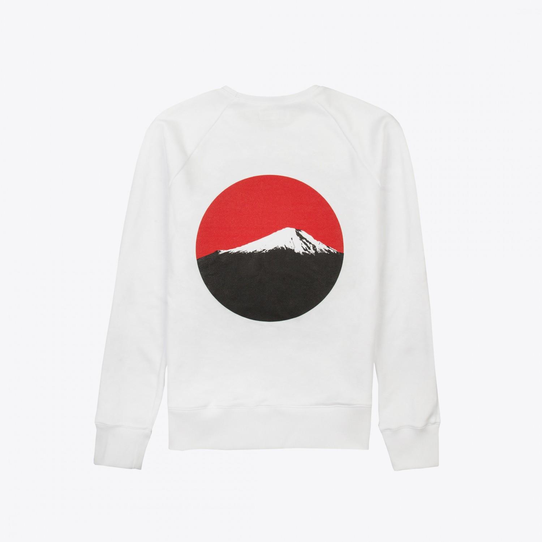 "Свитшот Basic Sample - Sweatshirt White ""Fujiyama"""