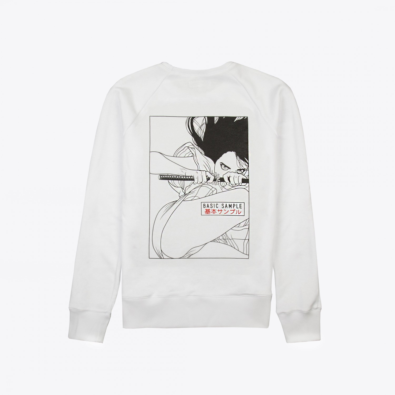 "Свитшот Basic Sample - Sweatshirt White ""Katana"""