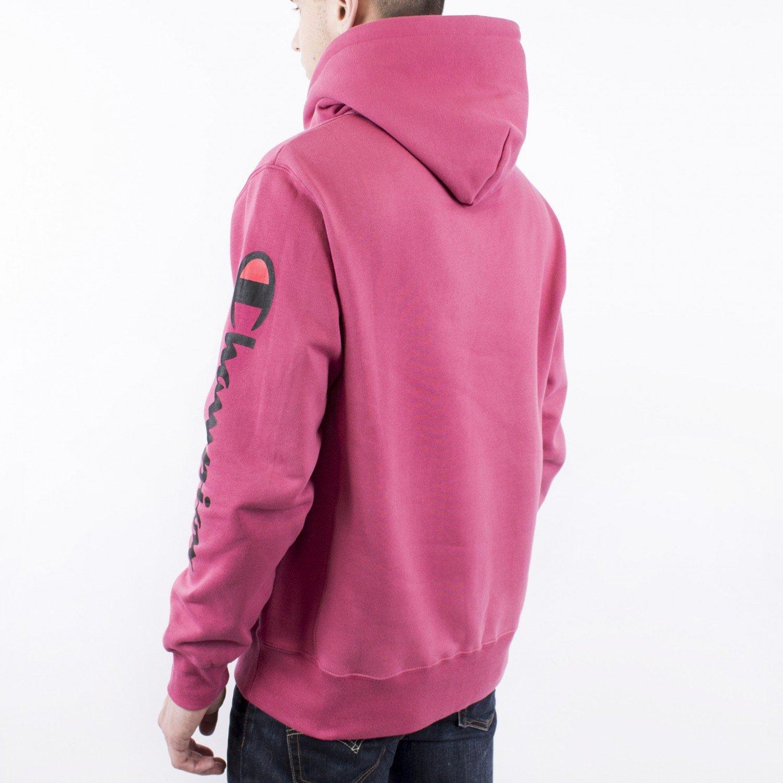 Толстовка Champion - Big C Revers Weave Hoodie in Raspberry