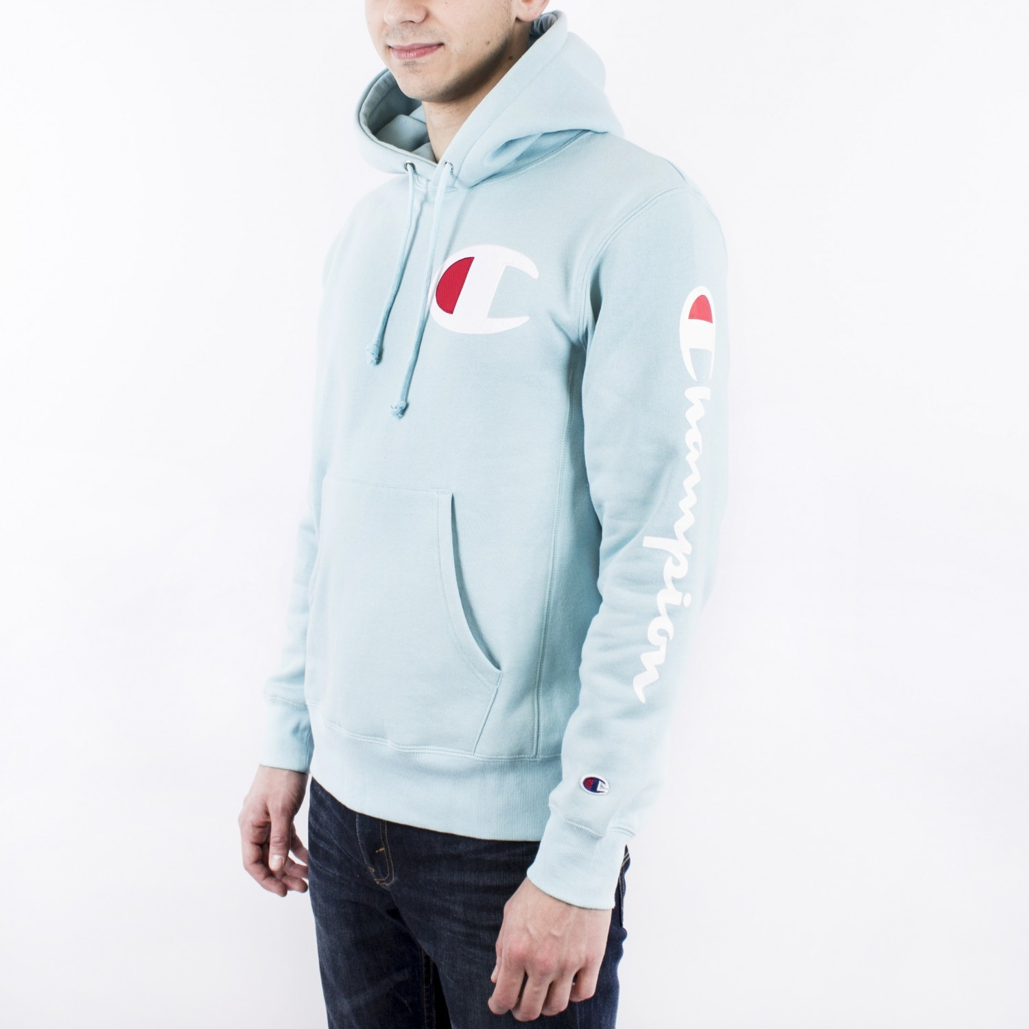 Толстовка Champion - Big C Revers Weave Hoodie in Blue