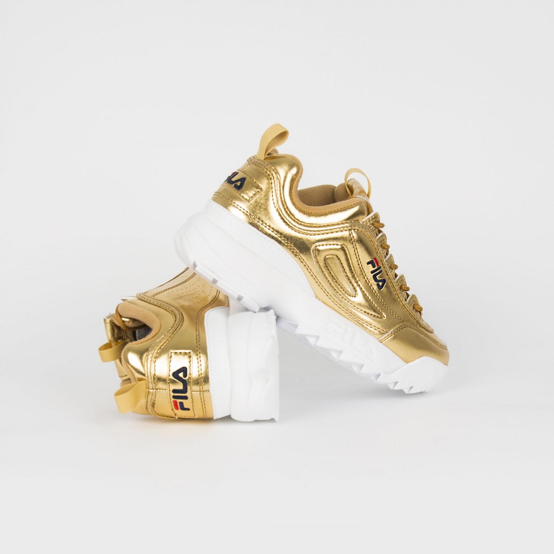 Кроссовки женские FILA - Disruptor II Premium Metallic Gold