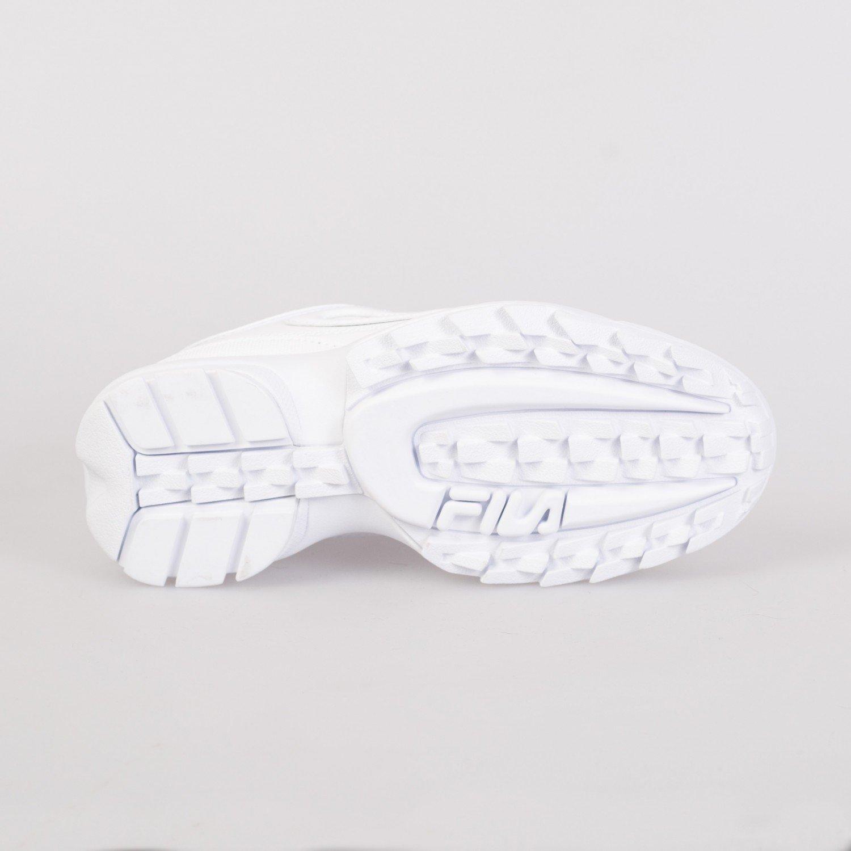 Кроссовки женские FILA - Disruptor II Premium Patent White/Navy/Red