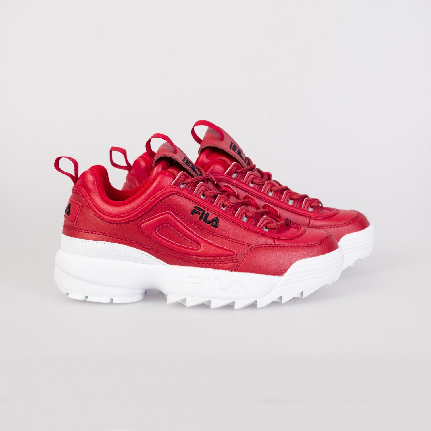 Кроссовки женские FILA - Disruptor II Premium Red/Black/White