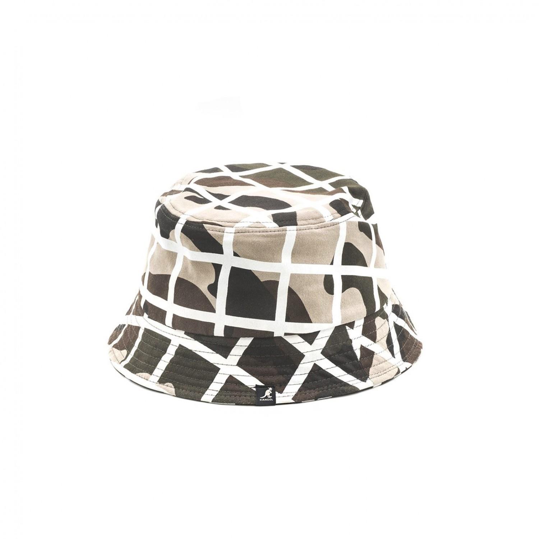 Панама Kangol - Camo Check Bucket Camo White