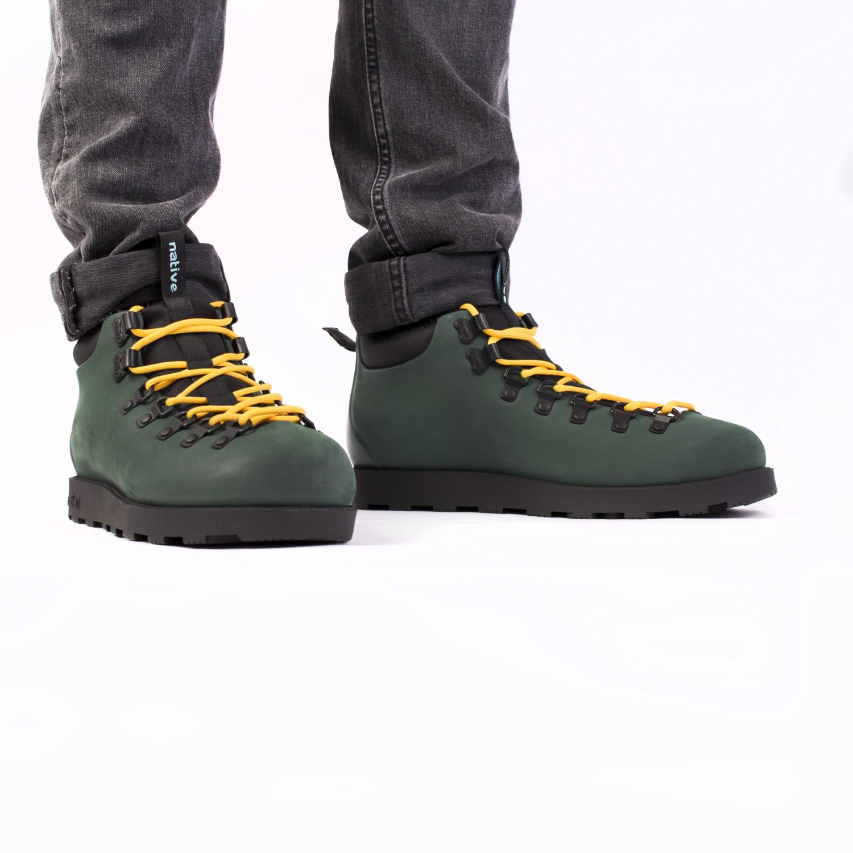 Ботинки зимние Native - Fitzsimmons Spooky Green / Jiffy Black