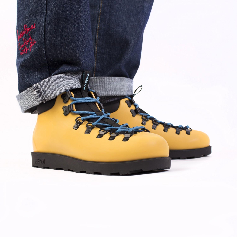 Ботинки зимние Native - Fitzsimmons Alpine Yellow / Jiffy Black