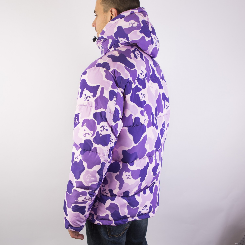 Куртка RIPNDIP - Nerm Camo Puffer Jacket Purple Camo