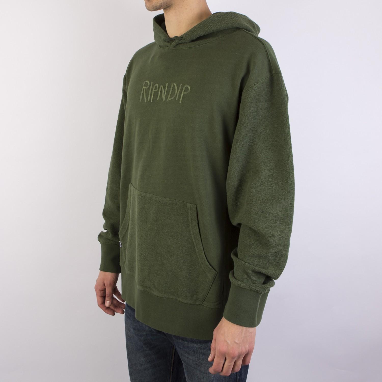 Толстовка RIPNDIP - Tonal Loopback Pullover Sweater Olive
