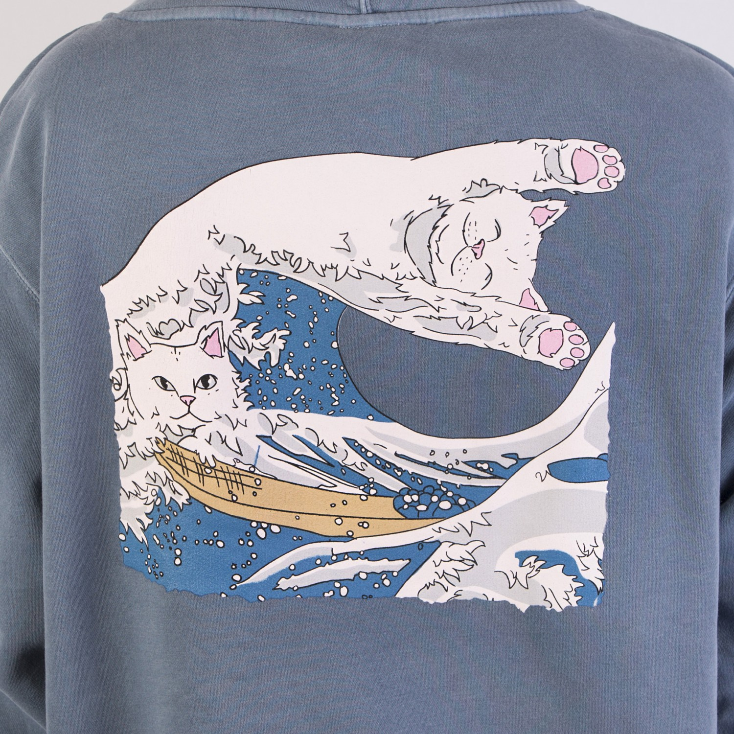 Толстовка RIPNDIP - Great Wave Of Nerm Pullover Sweater Baby Blue