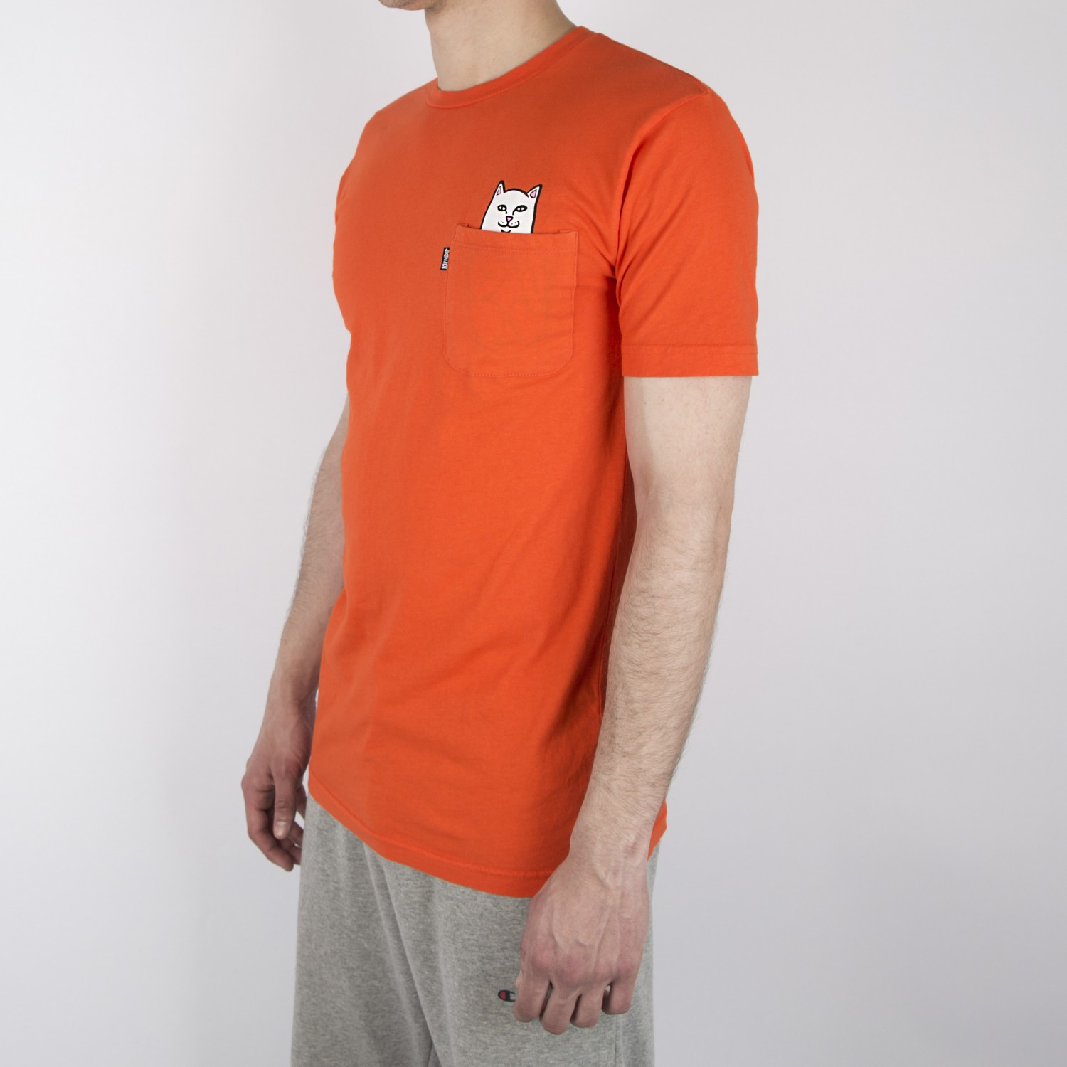 Футболка RIPNDIP -  Lord Nermal Pocket Tee in Safety Orange