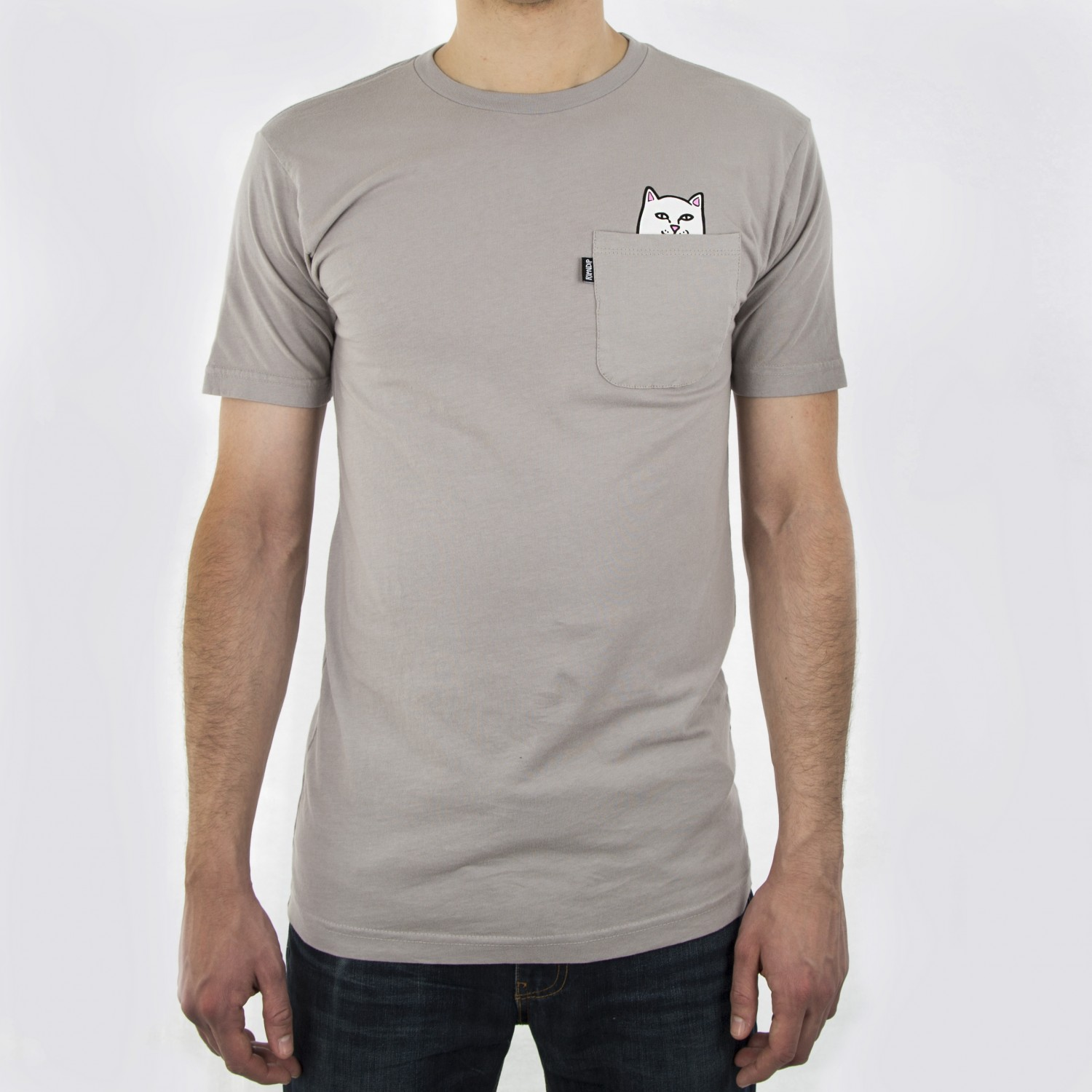 Футболка RIPNDIP -  Lord Nermal Pocket Tee Cool Grey