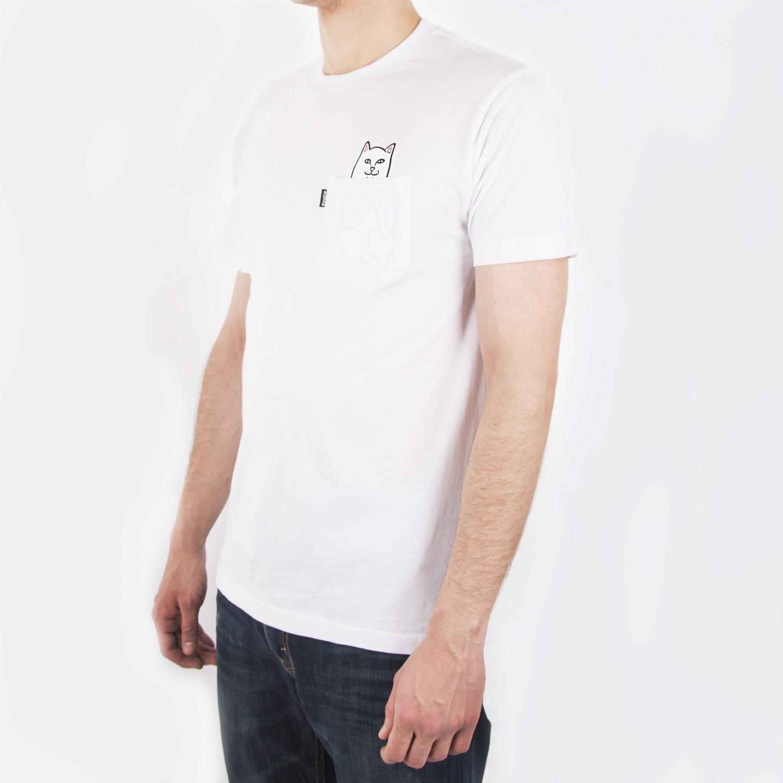 Футболка RIPNDIP -  Lord Nermal Pocket Tee in White
