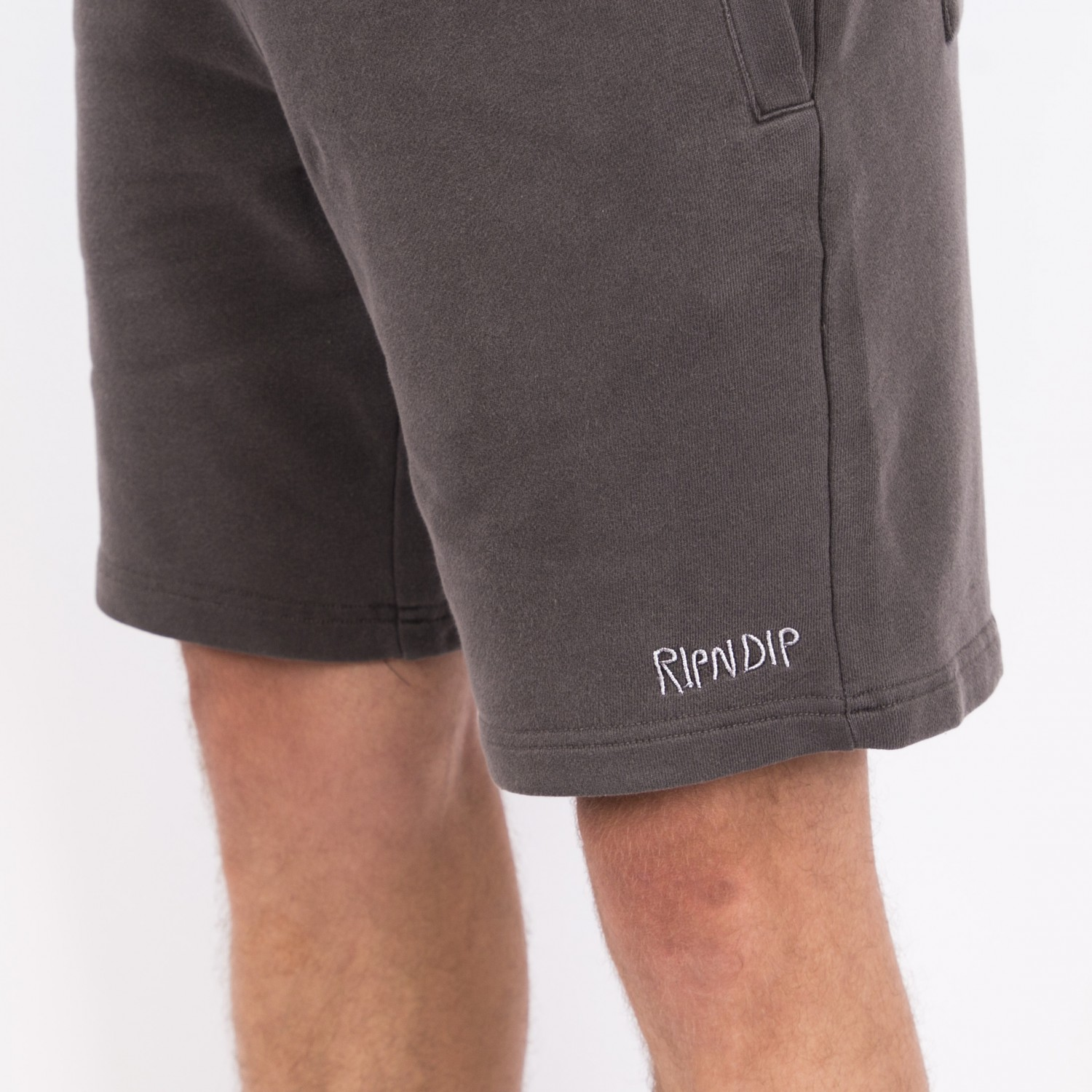 Шорты RIPNDIP - Peek A Nerm Over Dye Sweat Shorts Black