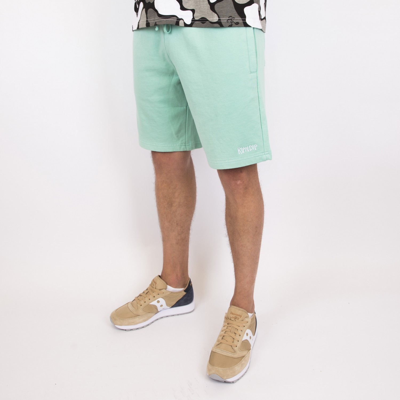 Шорты RIPNDIP - Peek A Nerm Over Dye Sweat Shorts Mint