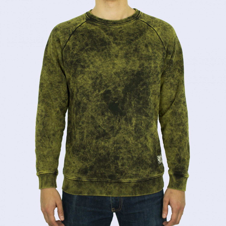 Свитшот мужской Unaffected - Overdye Sweatshirt in Acid Yellow