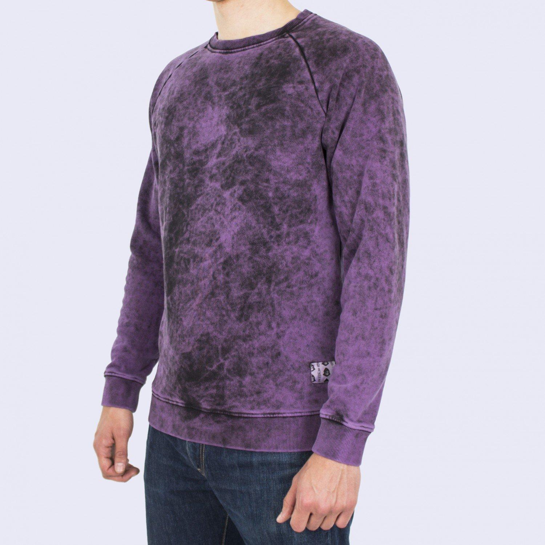 Свитшот мужской Unaffected - Overdye Sweatshirt in Gloomy Purple