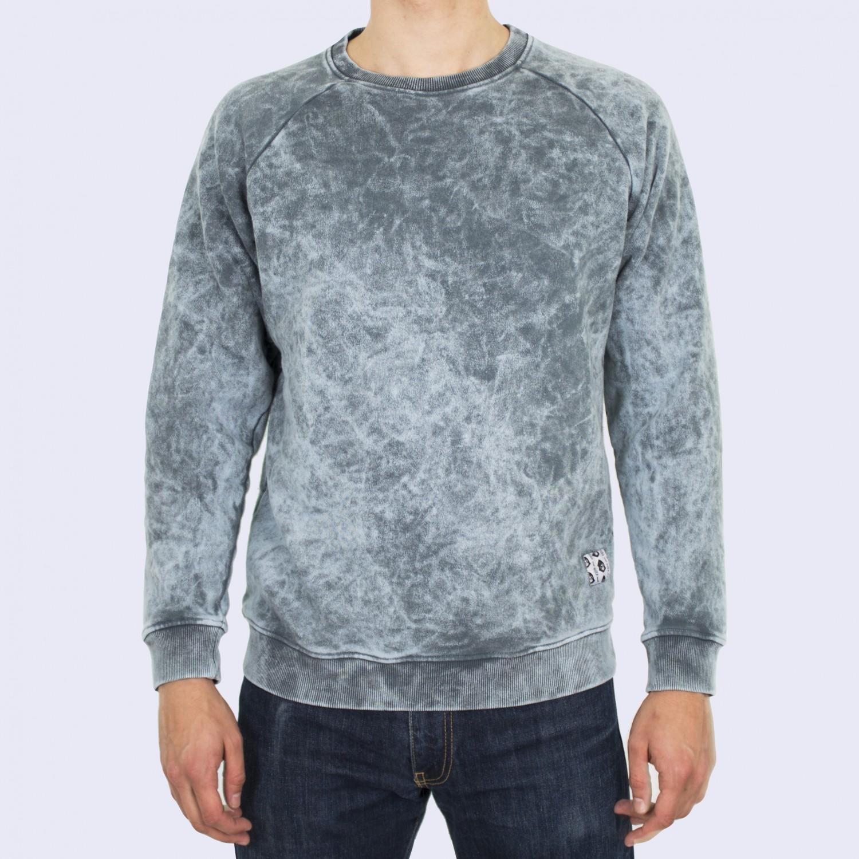 Свитшот мужской Unaffected - Overdye Sweatshirt in Sky Blue
