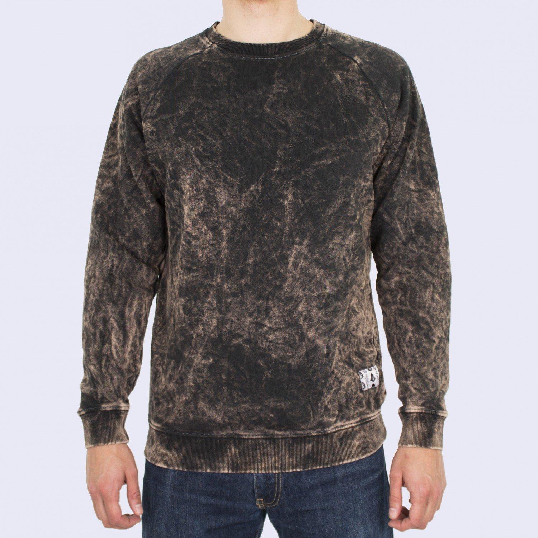 Свитшот мужской Unaffected - Overdye Sweatshirt in Dark Milk