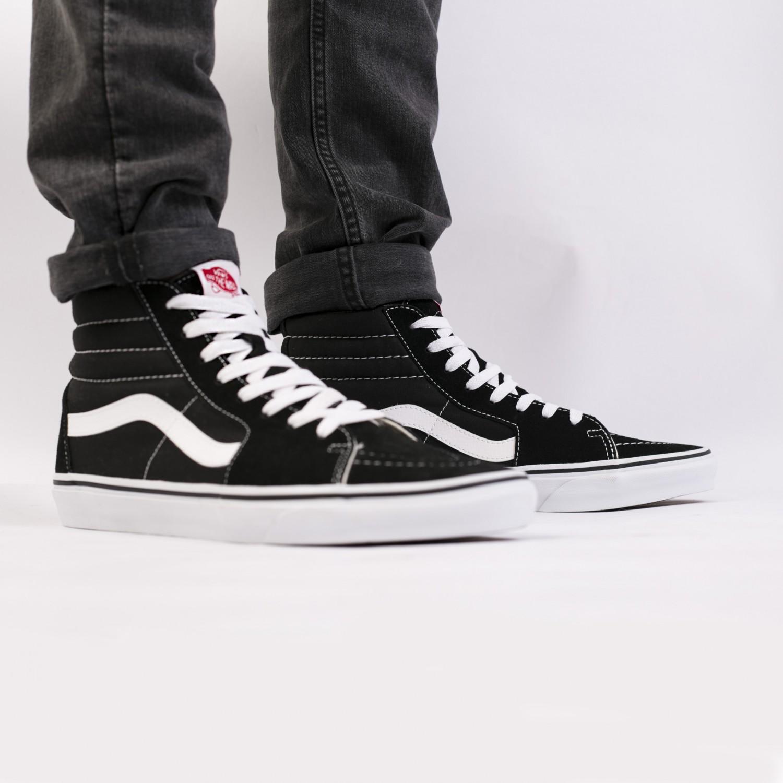 Кеды мужские Vans - SK8-Hi Black/Black/White