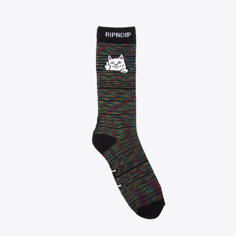 Носки RIPNDIP - Peeking Nermal Socks Black/Space Dye